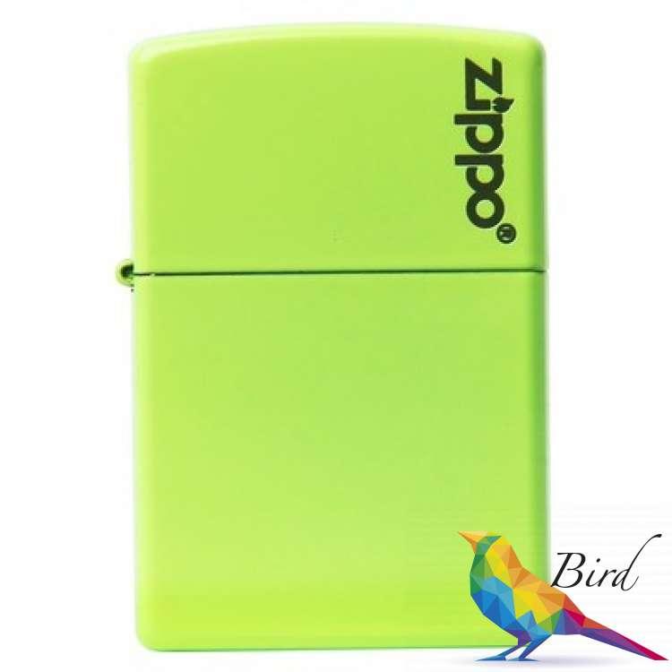 Фото Зажигалка Zippo Neon Yellow Lighter logo 28887ZL | Интернет магазин Bird.in.ua