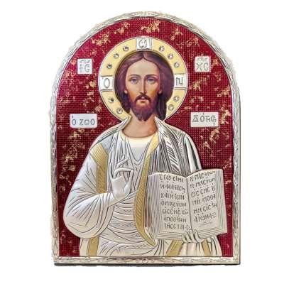 Серебряная Икона Leader Argenti Иисус Христос 110х145 Swarovski 05.B854.60R