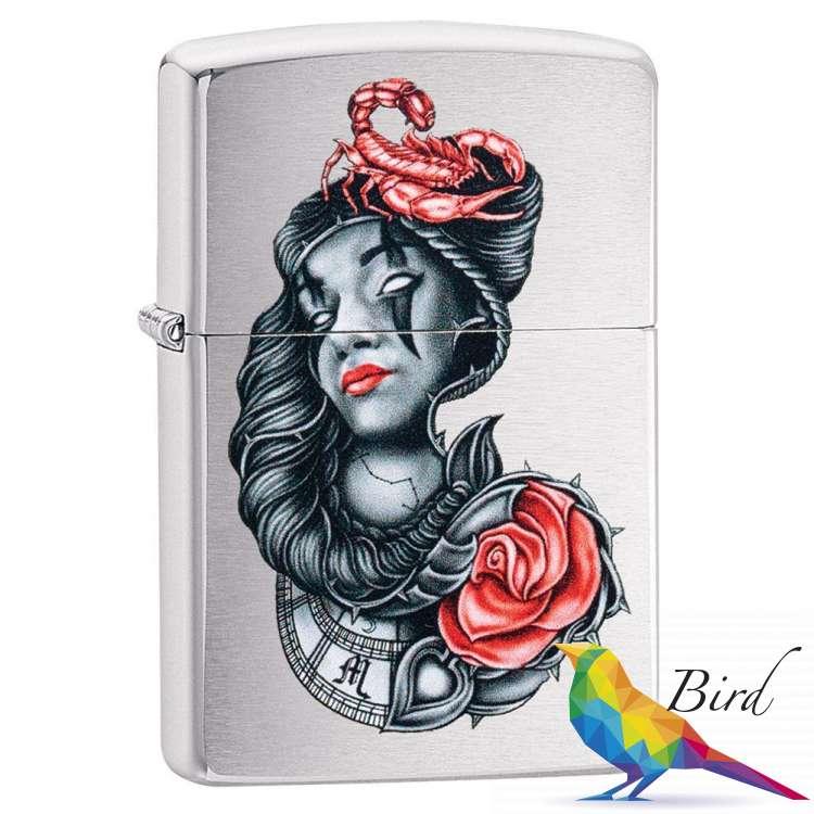 Фото Зажигалка  Zippo Stylized Tattoo Design 49112 | Интернет магазин Bird.in.ua