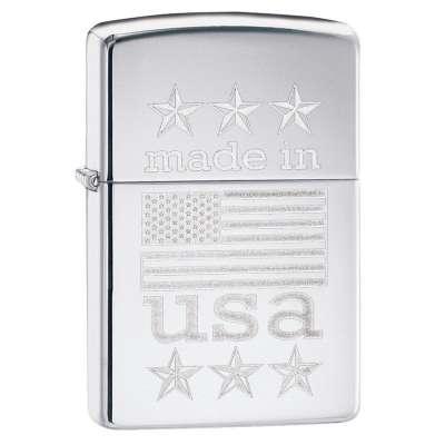 Зажигалка Zippo Made In USA with Flag 29430