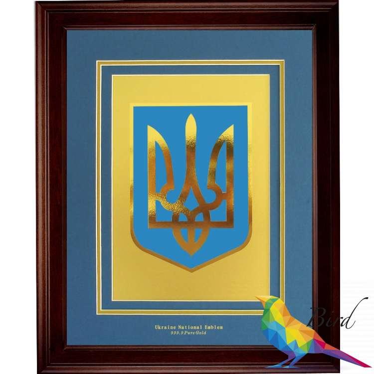 Фото Герб Украины Golden 48 x 39 см 221 HB | Интернет магазин Bird.in.ua