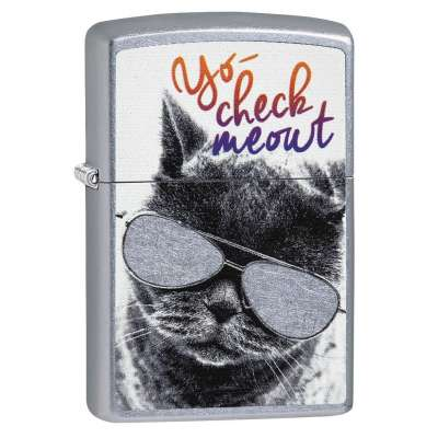 Зажигалка Zippo Cat With Glasses 29619