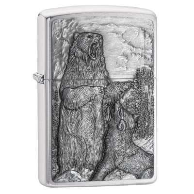 Зажигалка Zippo Bear vs Wolf 29636