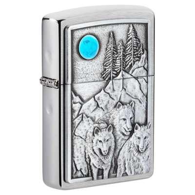 Зажигалка Zippo Wolf & Pack Emblem 49295