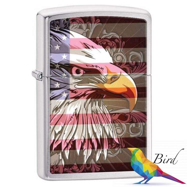 Фото Зажигалка Zippo Eagle Flag 28652 | Интернет магазин Bird.in.ua