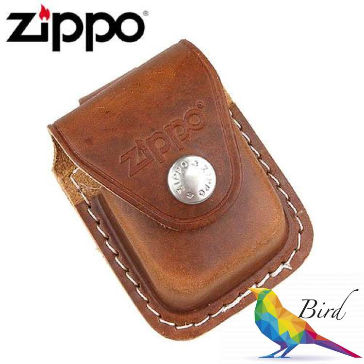 Фото Чехол Zippo коричневый с петелькой на кнопке LPLB   Интернет магазин Bird.in.ua