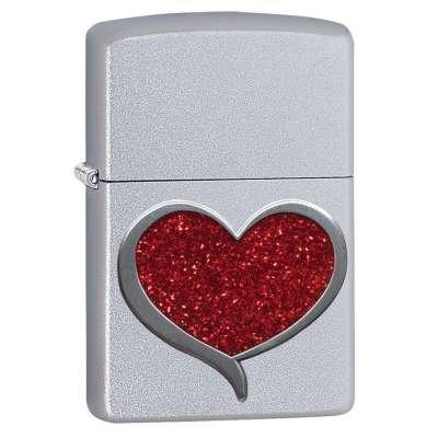 Зажигалка Zippo Glitter Heart 29410