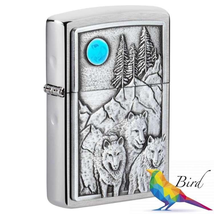 Фото Зажигалка Zippo Wolf & Pack Emblem 49295 | Интернет магазин Bird.in.ua