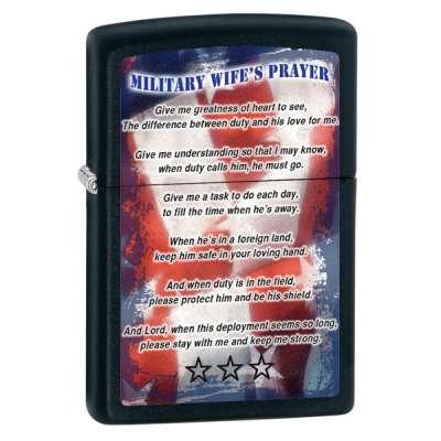 Зажигалка Zippo Military Wifes Prayer 28315