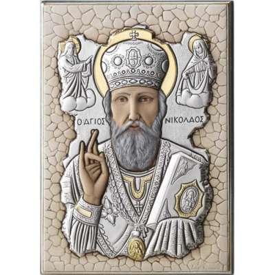 Серебряная Икона Leader Argenti Николай Угодник 140х200 мозаика 05.7699.279C