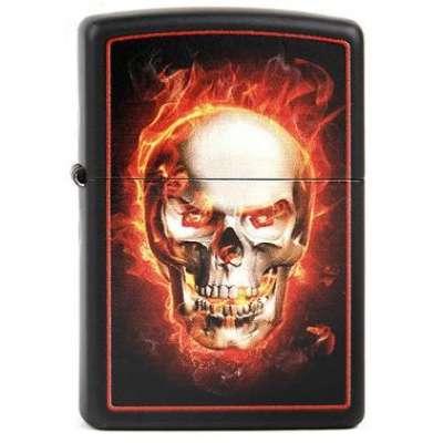 Зажигалка Zippo BURNING SKULL 28307