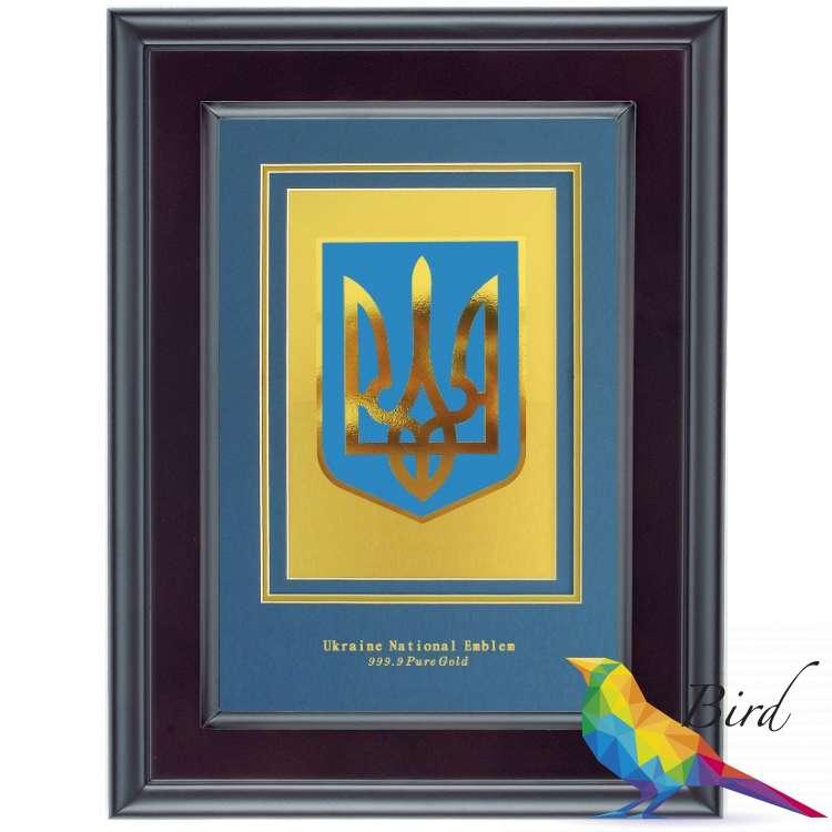 Фото Герб Украины Golden 30 x 23 см 222 HB | Интернет магазин Bird.in.ua