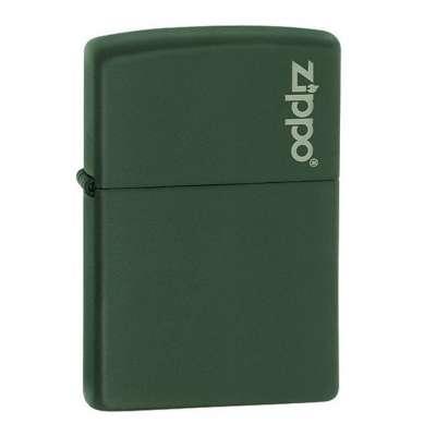 Зажигалка Zippo GREEN MATTE w/ZIPPO LOGO 221ZL