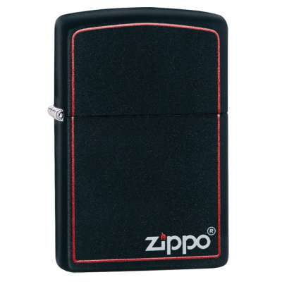 Зажигалка Zippo BLACK MATTE w/ZIPPO BORDER 218 ZB