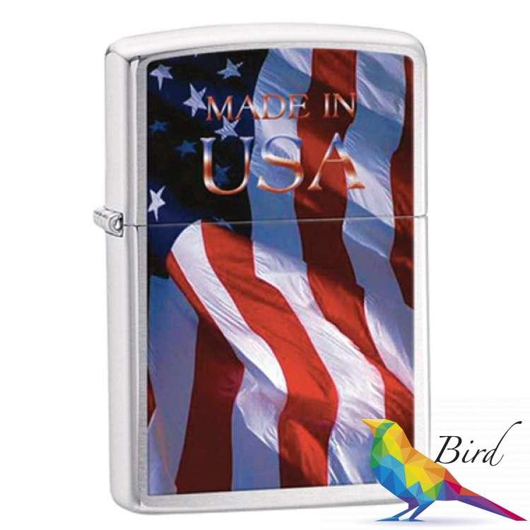 Фото Зажигалка Zippo MADE IN USA FLAG 24797 | Интернет магазин Bird.in.ua