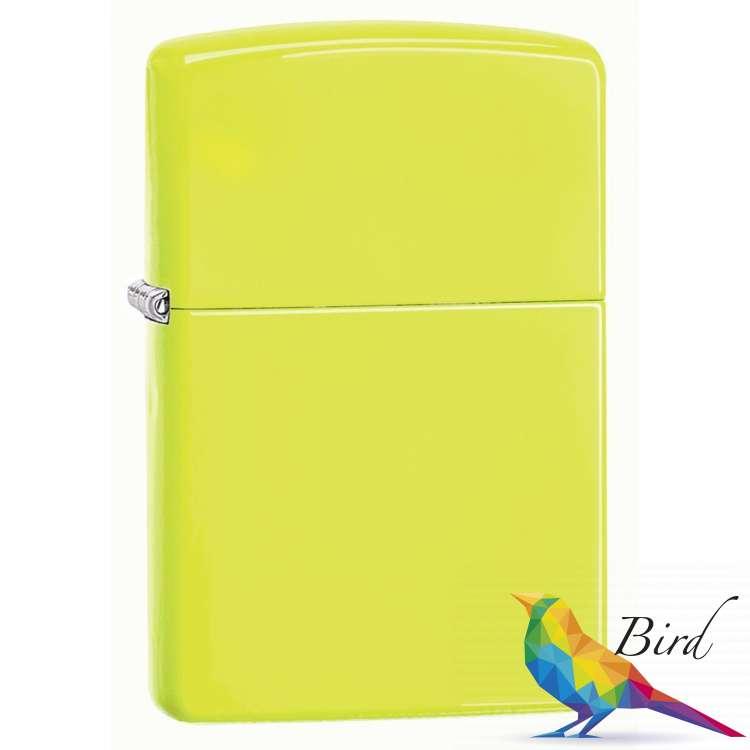 Фото Зажигалка Zippo Neon Yellow Lighter 28887 | Интернет магазин Bird.in.ua