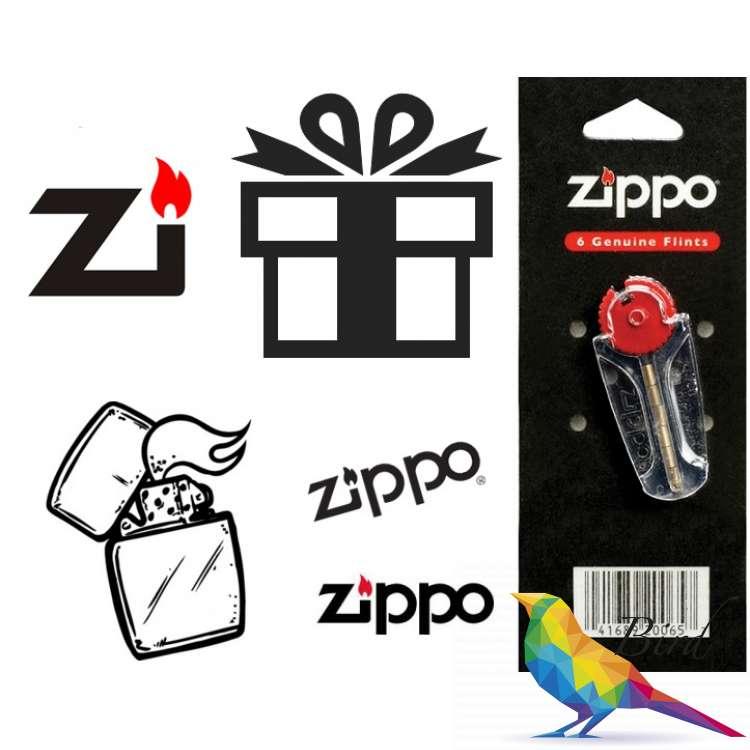 Фото Подарочный Набор Кремней Zippo (6шт. в блистере) | Интернет магазин Bird.in.ua