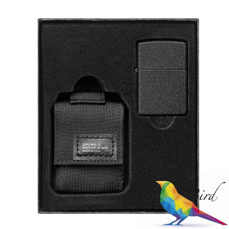 Фото Зажигалка Zippo с тактическим чехлом Blk Crackle Tactical Pouch Black 49402   Интернет магазин Bird.in.ua