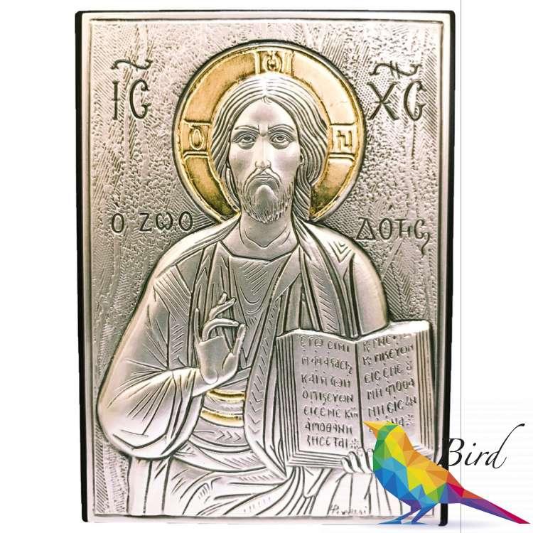 Фото Серебряная Икона Leader Argenti Иисус Христос 70x100 05.39.60D | Интернет магазин Bird.in.ua