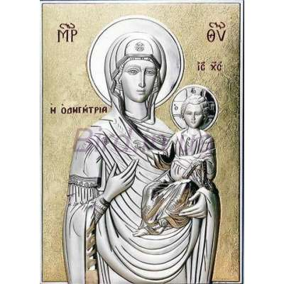 Серебряная Икона Leader Argenti Божьей Матери Одигитрия 100х150 05.15.66D