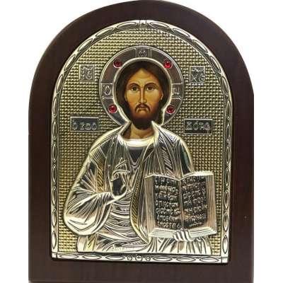 Серебряная Икона Leader Argenti Иисус Христос 80х100 Swarovski 05.3760 OL