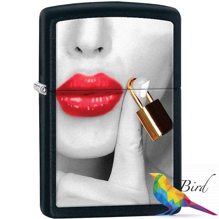 Фото Зажигалка Zippo Locked Lips 29089 | Интернет магазин Bird.in.ua