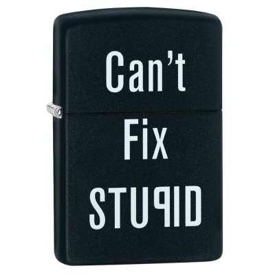 Зажигалка Zippo Cant Fix Stupid 28664
