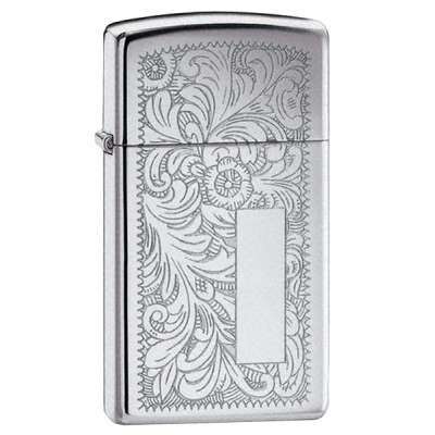 Зажигалка Zippo узкая VENETIAN HIGH POLISH CHROME 1652