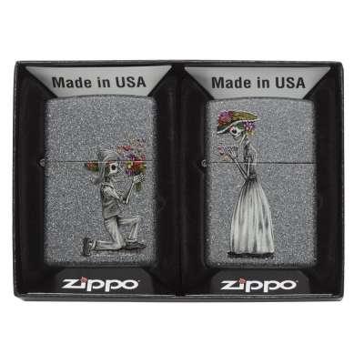 Зажигалка Zippo Day of Dead Skulls Set 28987