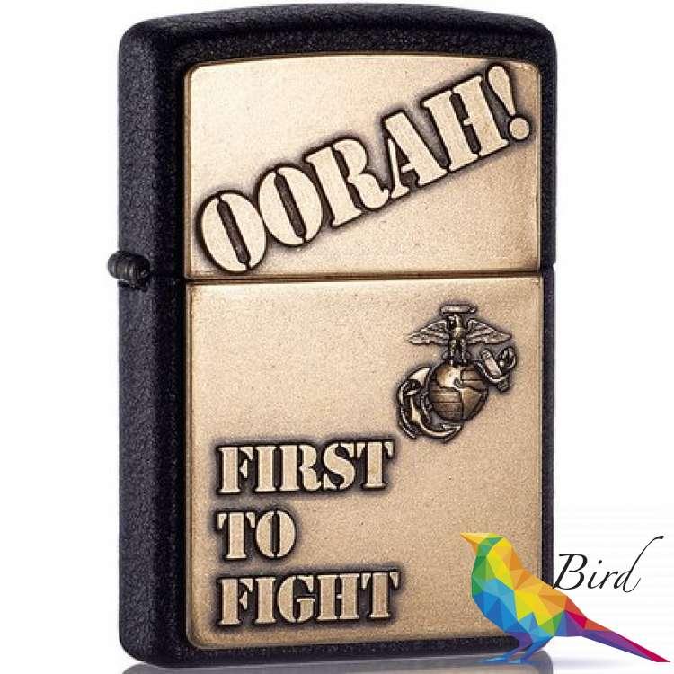 Фото Зажигалка Zippo Marine Corp Oorah Emblem 28368   Интернет магазин Bird.in.ua