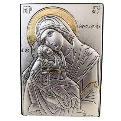Серебряная Икона Leader Argenti Божьей Матери Гликофилуса 70х100 05.39.62D