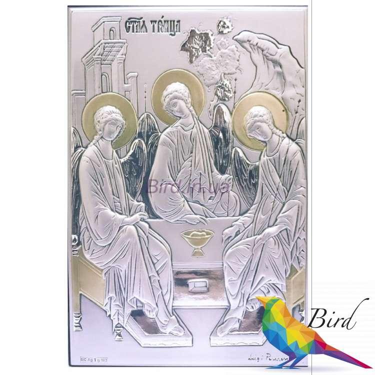 Фото Серебряная Икона Leader Argenti Святая Троица 100х150 05.15.266D | Интернет магазин Bird.in.ua