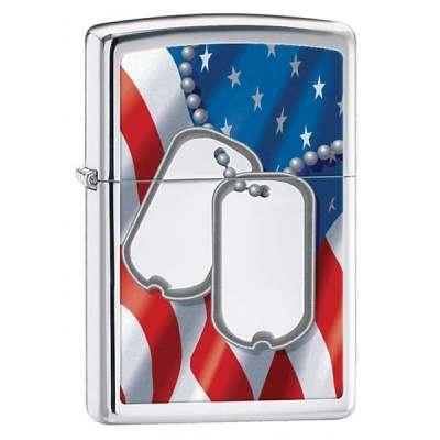 Зажигалка Zippo FLAG & DOG TAG 28291