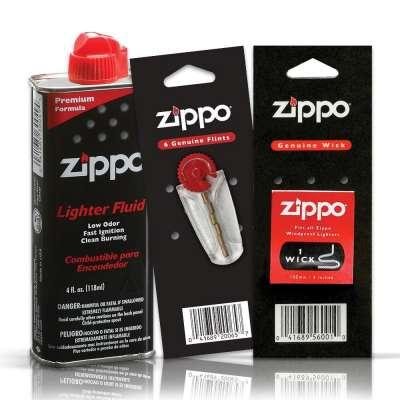 Набор Zippo из Топливо 125 ml + Кремень + Фитиль