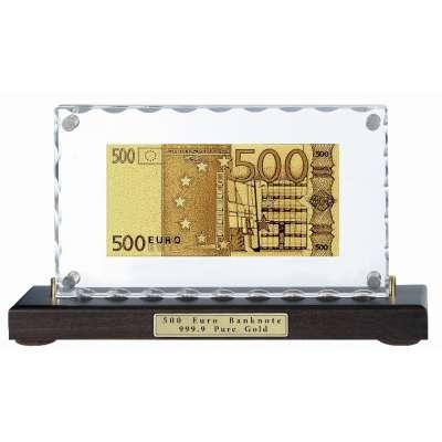 Золотая купюра Golden 500 EURO настольная акриловая 059 HB