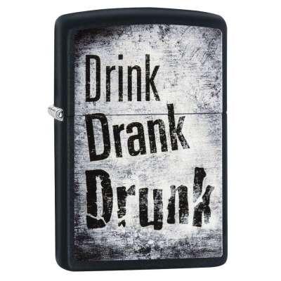 Зажигалка Zippo Drink Drank Drunk 29618