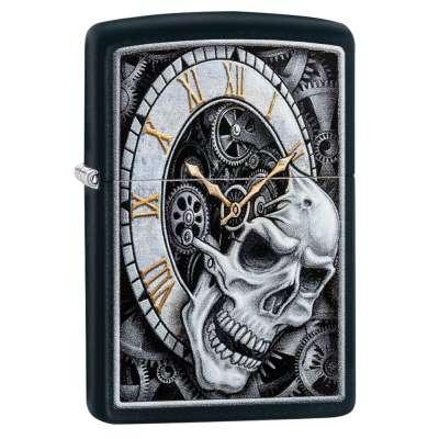Зажигалка Zippo Skull Clock Design 29854