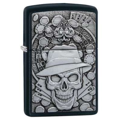 Зажигалка  Zippo Gambling Skull 49183