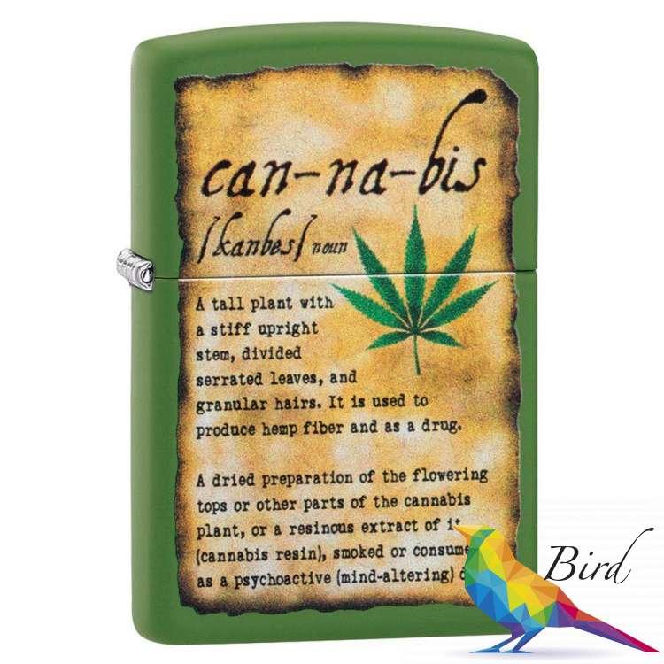 Фото Зажигалка  Zippo Cannabis Design 49119 | Интернет магазин Bird.in.ua