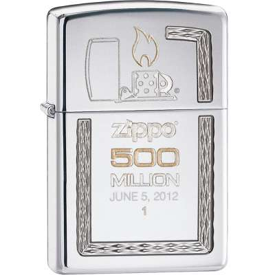 Зажигалка Zippo Armor 500th Million Limited Edition High Polish Chrome 28413