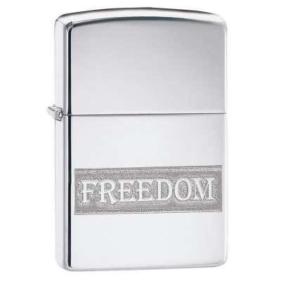 Зажигалка  Zippo Etched Freedom Design 49129