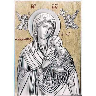 Серебряная Икона Leader Argenti Мадонна АМОЛИНТОС 130х180 05.B813.65D