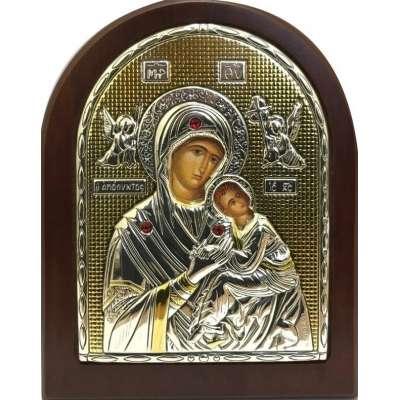 Серебряная Икона Leader Argenti Мадонна АМОЛИНТОС 80х100 Swarovski 05.3765 OL
