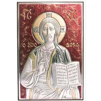 Серебряная Икона Leader Argenti Иисус Христос 100х150 05.B815.60R