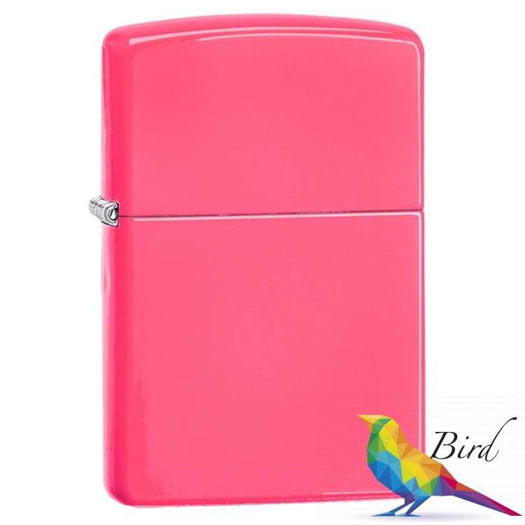 Фото Зажигалка Zippo Reg Neon Pink Lighter 28886 | Интернет магазин Bird.in.ua