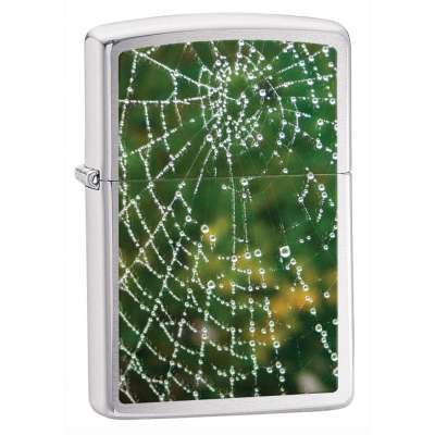 Зажигалка Zippo SPIDER WEB RAIN DROPS 28285