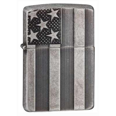 Зажигалка Zippo U.S.Flag Armor Antq Silver 28974