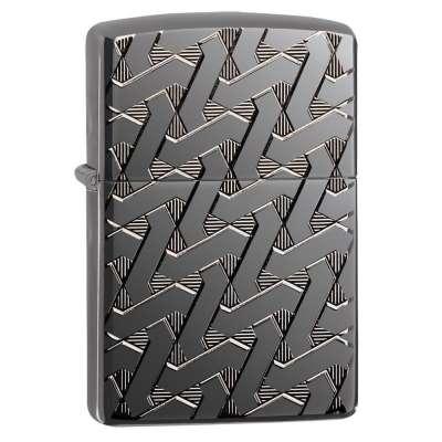 Зажигалка  Zippo Geometric Weave Design Armor 49173