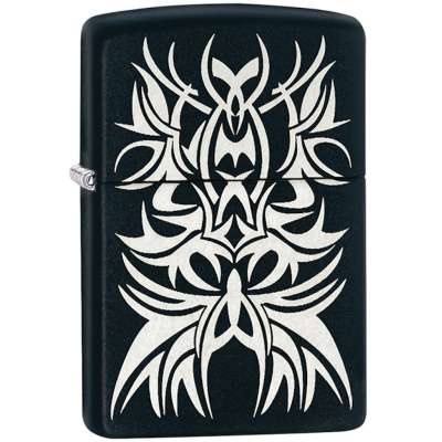 Зажигалка Zippo Black and Chrome 28686