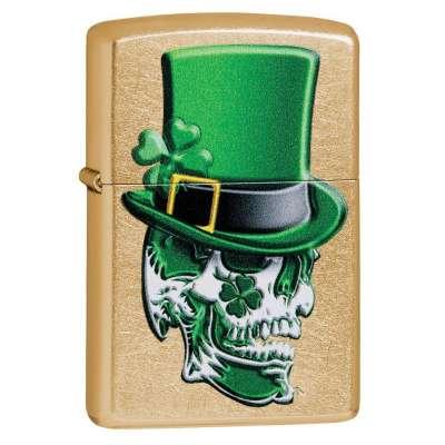 Зажигалка  Zippo Irish Skull Design 49121